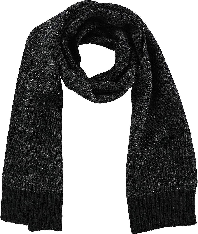 Alfani Womens Stripe Rib-Knit Comfort Stretch Scarf