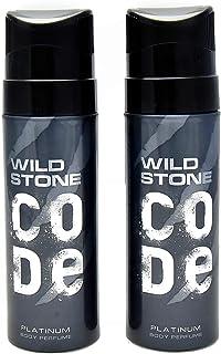 Wild Stone Code Patinum Body Perfume SprayforMen, Pack of 2 (120ml each)
