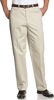 Savane Men's Flat-Front Deep-Dye Twill Pant