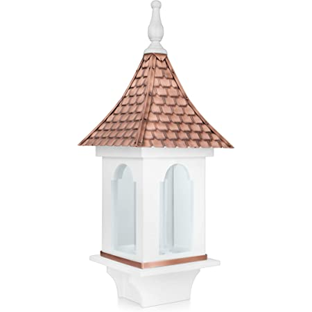 Amazon Com Good Directions Bf101wwht Villa White With Pure Copper Roof Large 4 Lb Seed Capacity Bird Feeder Garden Outdoor
