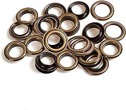 Weddecor 18mm Bronzen Messing Oogjes Grommets met Wasringen voor Yoga Mat, Dekzeildoek, Zwembadhoezen, Vinyl Banners, DIY ...