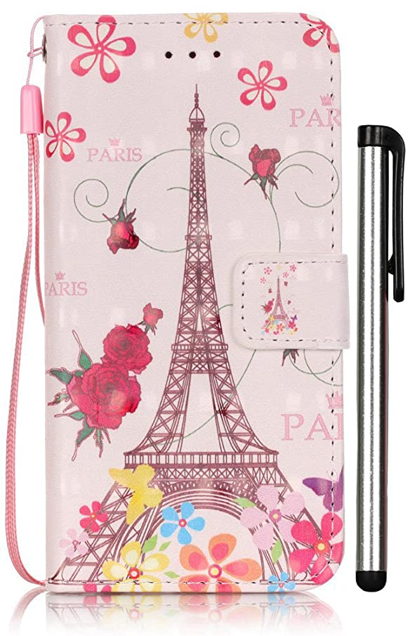 For iPhone 6S Case,iPhone 6 Case,[3D Painting] Wallet Leather Magnetic Smart Flip Folio Case Cover with Card Slot Cash Compartment Fit Apple iPhone 6/6S 4.7 inch ( Eiffel Tower ) [Not Fit 6 Plus]