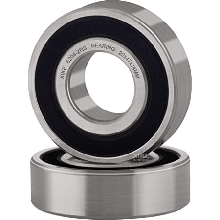 6204 20x47x14mm 2RS Rubber Sealed NKE Radial Deep Groove Ball Bearing