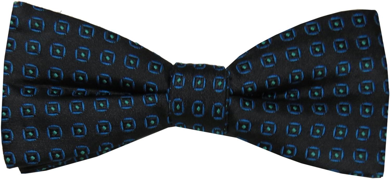 Apt.9 Mens Bow Tie, La Playa Neat Pt, Black/Blue