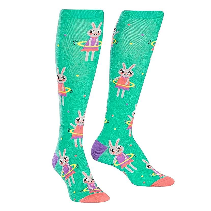 Sock It To Me, Hula Hoopin' Bunnies, Junior Knee-High Socks, Hula Hoop Bunny Socks