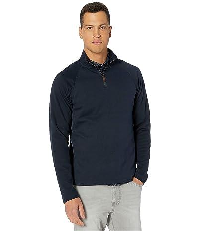 Vince Long Sleeve 1/4 Zip Sweater (Navy) Men