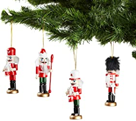 Morrisons Red and White Nut Cracker Tree Decoration