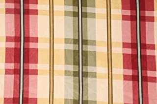 10 Yard Lot Fabric Richloom Upholstery Drapery Davon Yellow Plaid Jacquard Damask QQ41
