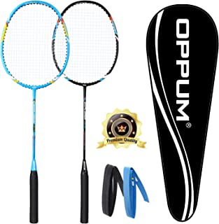 OPPUM Carbon Fiber Composite 2 Player Badminton Racket Integral Forming Structure Super Lightweight Offensive Badminton Ra...