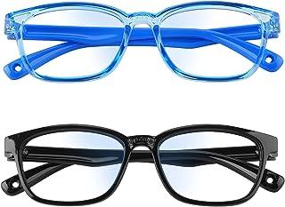 Konikit Kids Blue Light Blocking Glasses,Anti Eyestrain,Blu-ray Filter,Computer/Gaming/TV Glasses for Boys Girls Age 3-12(...
