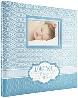 MCS MBI 13.5x12.5 Inch Baby Theme 'Love You to the Moon and Back' Scrapbook Album with 12x12 Inch Pages with Photo Opening...
