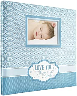 MCS MBI 13.5x12.5 Inch Baby Theme 'Love You to the Moon and Back' Scrapbook Album with 12x12 Inch Pages with Photo Opening (860127)