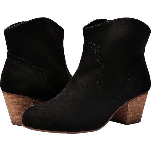 69aebf35f32 Women Wide Width Ankle Boots - Chunky Mid Heel Slip On Side Zipper Booties.