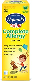 Kids Allergy Medicine by Hyland's 4Kids, Non Drowsy Childrens Complete Allergy Relief Syrup, Safe and Natural for Indoor &...