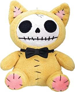 SUMMIT COLLECTION Furrybones Yellow Cat Mao Mao Wearing Black Bow Tie Small Plush Doll