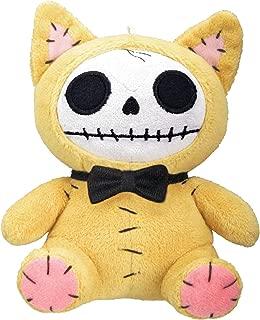 Furrybones Yellow Cat Mao Mao Wearing Black Bow Tie Small Plush Doll