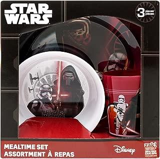 Zak Designs Star Wars: The Force Awakens Plate, Bowl & Cup Gift Set, Kylo Ren