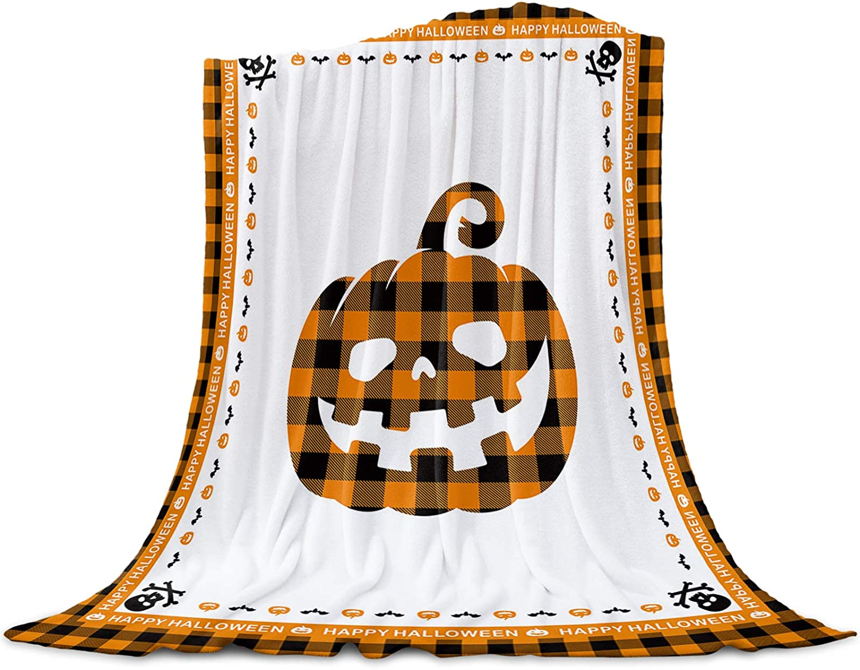 Funy Decor Halloween Throw Blanket Bats Breat Soft Pumpkin Skull San Jose Mall 67% OFF of fixed price