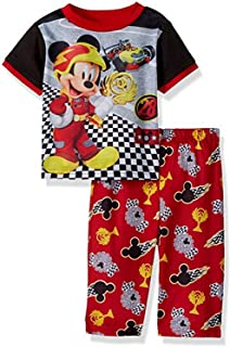 AME Mickey Boy's 4T Roadster Race Car Polyester Pajama Set