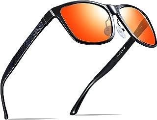 ATTCL Men's Retro Metal Frame Driving Polarized Sunglasses Al-Mg Metal Frame Ultra Light