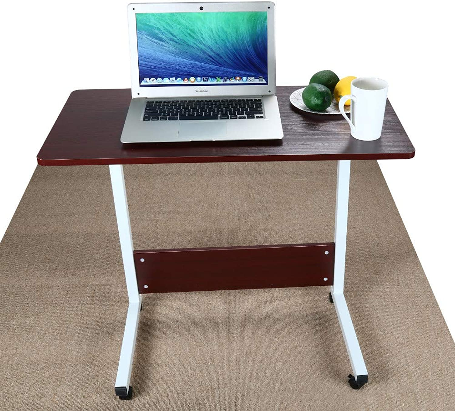 Fheaven 80cm x 40cm Home Office Workstation Desk Can Be Raised And Lowered Mobile Compact Computer Desk (80cm X 40cm)