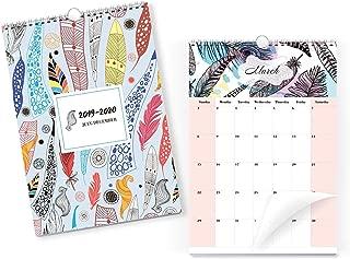 Wall Calendar From July 2019 Through December 2020 - Colour Desk Calendar - Monthly Calendar Planner - Daily Planner - Desktop Calendar 2019-2020 - Wall Hanging Calendar - Modern Office Calendar