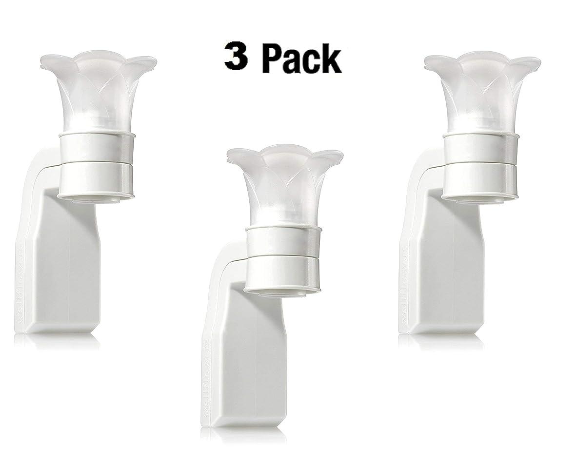 コンピューター本物の豊富にBath & Body Works White Flower Top Wallflower Plug In Diffuser -- Set of THREE (3) Home Fragrance Wallflower Plugs