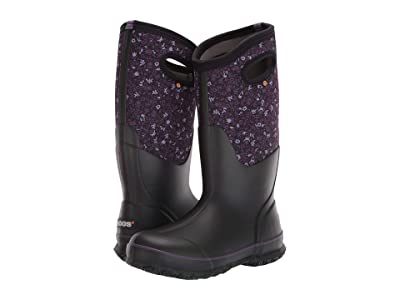 Bogs Classic Tall Freckle Flower (Black Multi) Women