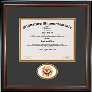 Professional//Doctor Sculpted Foil Seal Graduation Diploma Frame 16 x 16 Gold Accent Gloss Mahogany Signature Announcements Youngstown-State-University Undergraduate