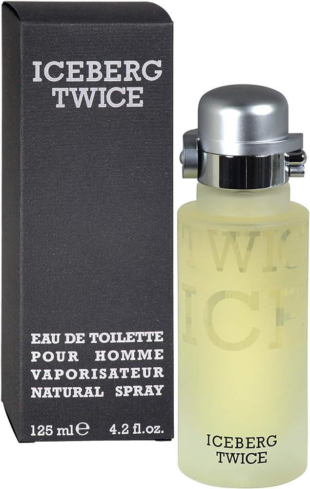 Iceberg twice, eau de toilette,profumo per uomo, 125 ml, spray uomo 124866
