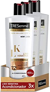 TRESemmé Acondicionador Liso Keratina - Paquete de 3 x 400 ml - Total: 1200 ml