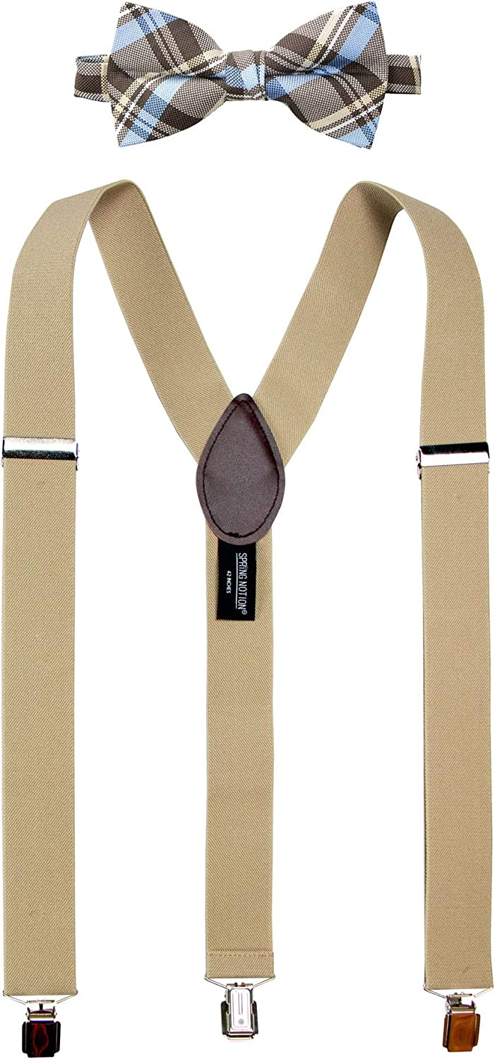 Spring Notion Men's Suspenders and Bow Tie Set