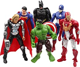 Jubasix 6 PCS Action Figure Set - Superhero Action Figures - PVC Figure Toy Dolls – Hero Cake Toppers