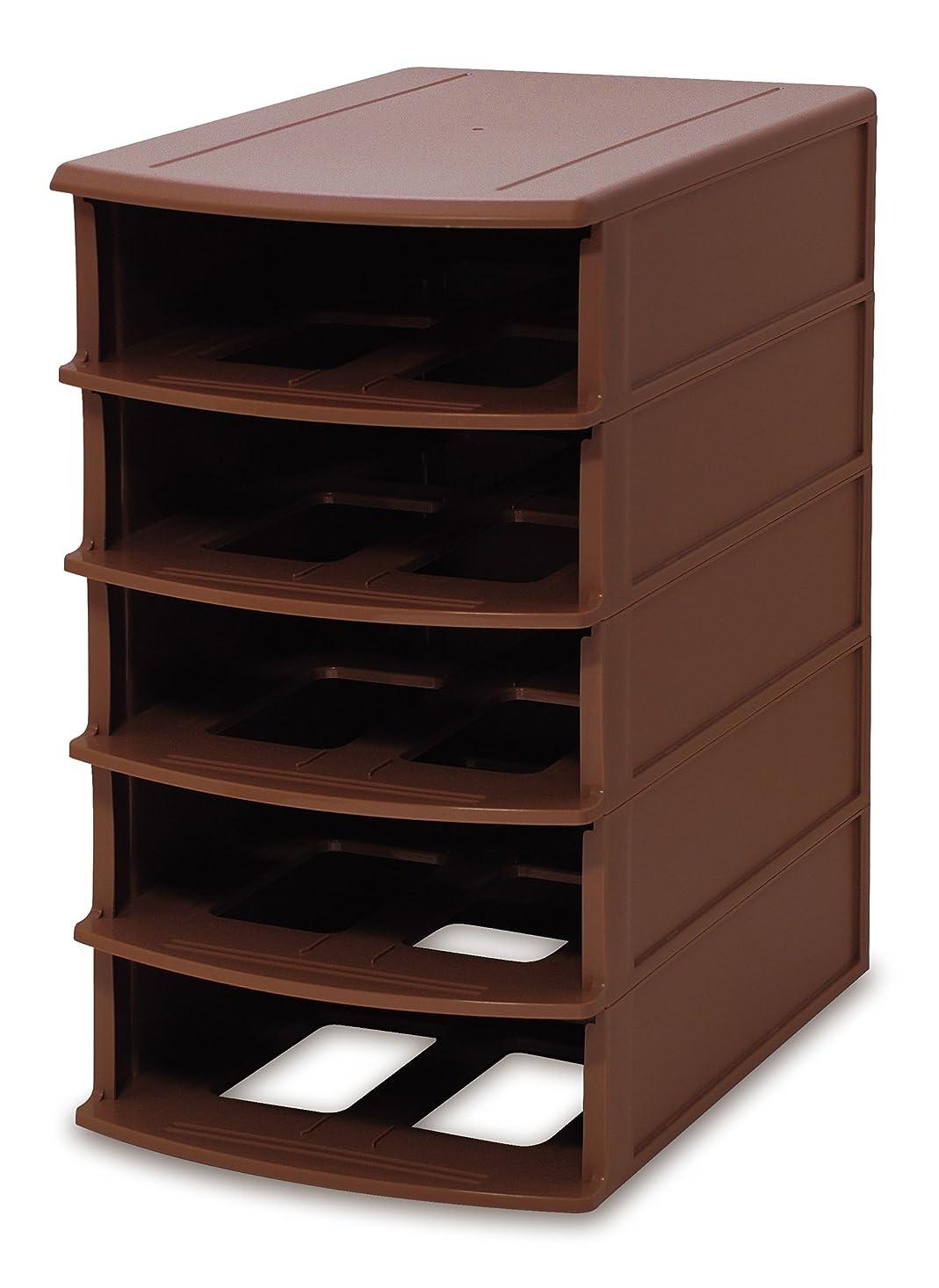扱いやすいつまずく見るISETO (伊勢藤) 収納ボックス ブラウン 幅26.1×奥行37.7×高さ45.2cm I-417