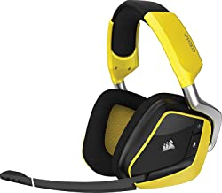CORSAIR - VOID PRO RGB SE Wireless Dolby 7.1-Channel Surround Sound Gaming Headset for PC (CA-9011150-NA) Yellow - New