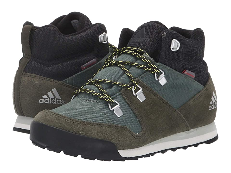 Image of adidas Outdoor Kids CW Snowpitch (Little Kid/Big Kid) (Base Green/Night Cargo/Ash Silver) Boys Shoes