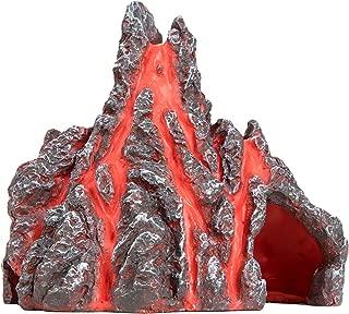 Aquarium Decorations Volcano Cave Fish Tank Decorations Small Resin Aquarium Ornament Hideout L4.9 x W3.9 x H4.5 Inches