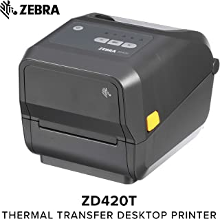 ZEBRA Label Printer - Thermal Transfer - Roll (4.65 in) - 203 dpi - up to 359.1 inch/min - USB 2.0, USB Host, Wi-Fi(ac), Bluetooth 4.1 - Tear bar - Gray