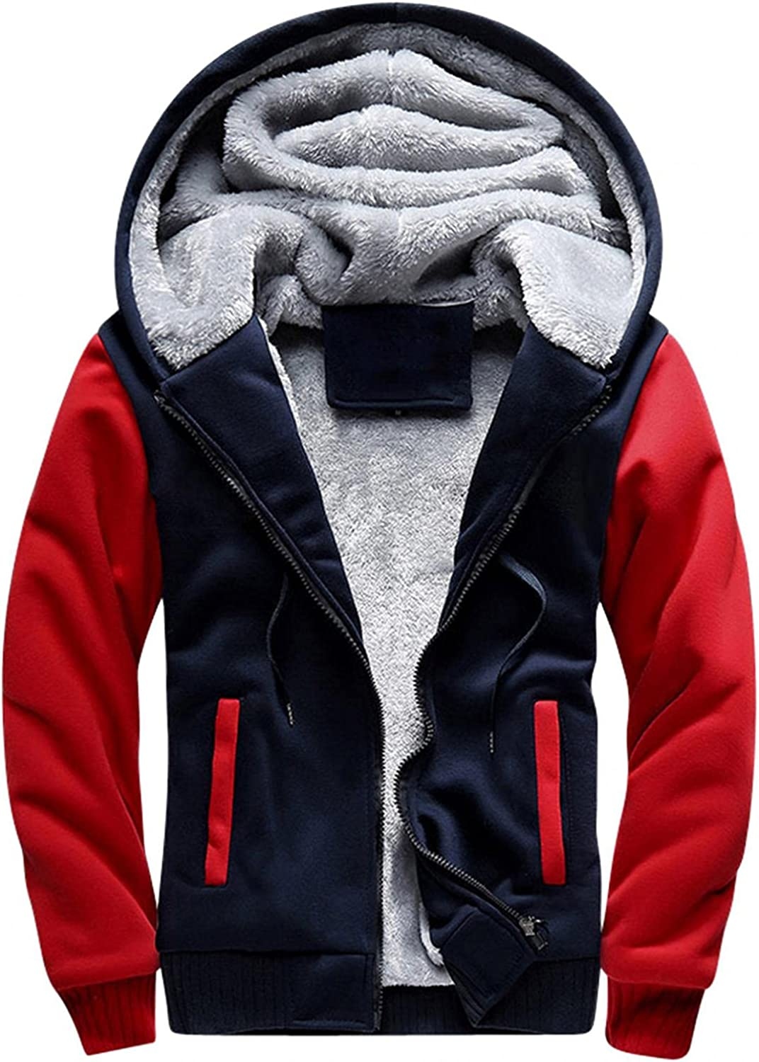 Men's Hooded Lining Limited time trial price Plus Fleece Autumn Casual Jacket Winter Manufacturer regenerated product