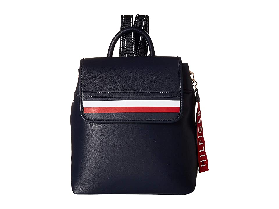 Tommy Hilfiger Gianna Smooth PVC Backpack (Tommy Navy) Backpack Bags