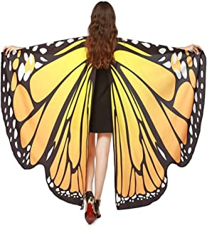 Women 3D Printed Wings Shawl Scarves Ladies Nymph Pixie Poncho Costume Accessory Warm Sweatershirt Overcoat WEI MOLO