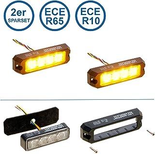 LED MARTIN 2er Sparset R65 PROFLASH gelb   Frontblitzer   Straßenräumer  Blitzmodul   Pannendienst   Schwertransport   LKW