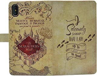 iPhone Xs Max Case, Marauder's Map I Solemnly Swear That I am up to no Good Wallet Card Flip Stand Leather Case Cover for iPhone Xs Max 6.5