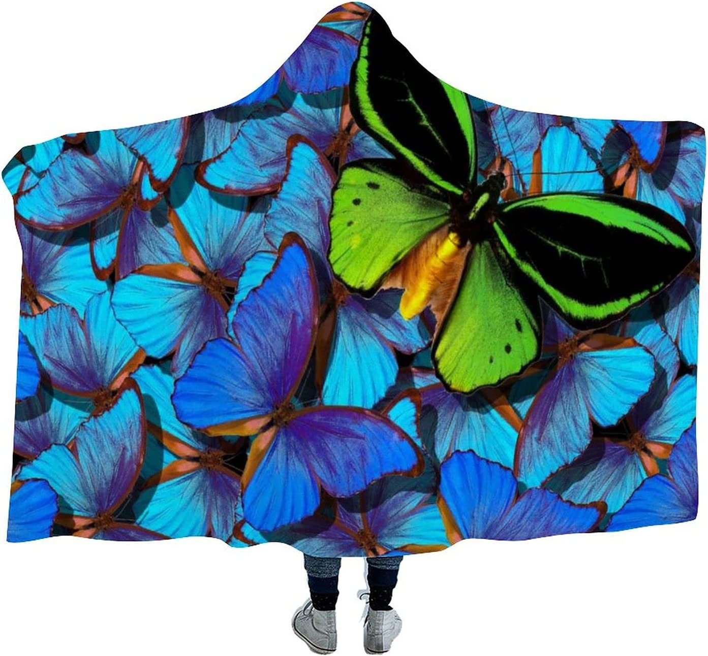 Colorful Tropical Blue Our shop most popular and Colorado Springs Mall Green Velvet Butterfly Wearabl Arctic