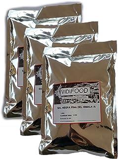 Sal Negra del Himalaya - 3kg - Rica en nutrientes y minerales - 100% natural y sin toxinas - Alternativa baja en sodio perfecta para la sal de mesa común - Sabor increíble - Apta para veganos