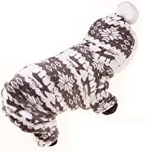 Winter Pet Dog Clothes Warm Fleece Print Hoodies Coat Clothing for Small Large Breeds Dog Pet Clothes Coat Costume