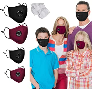 2+2 Kid Adult + 8 F_ilters Family Cloth Covering Face...