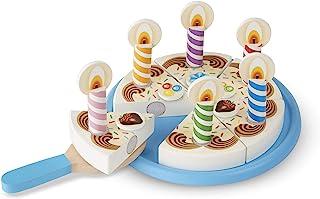Melissa & Doug- Birthday Party Wooden Play Food Fiesta de Cumpleaños Comida de Juego de Madera, ...
