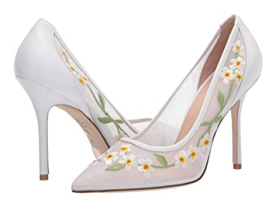 Stuart Weitzman Tasha 100 (White Mesh Flower) Women
