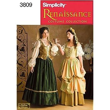Simplicit/é pour Femme Patron de Couture Costume Historique 1139/sous-v/êtements